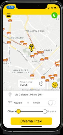 app per taxi a milano, roma, firenze, udine