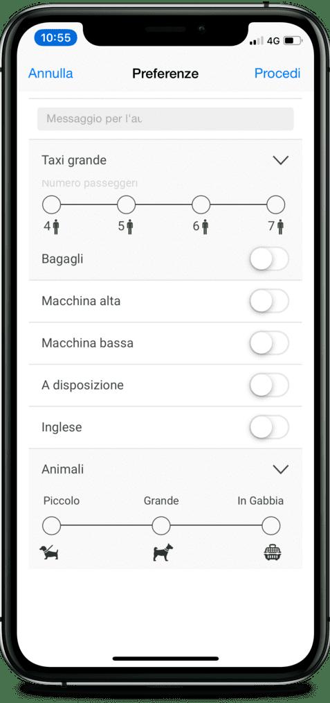 app taxi per iphone e android - torino, milano, roma
